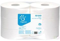 Witte Papernet toiletpapier Special Maxi Jumbo 2-laags 1180 vellen pak van 6 rollen