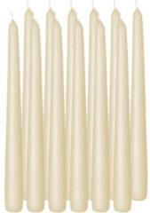 Creme witte Enlightening Candles 24x Cremewitte dinerkaarsen 25 cm 8 branduren - Geurloze kaarsen cremewit - Tafelkaarsen/kandelaarkaarsen