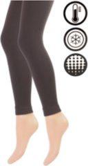 Merkloos / Sans marque Dames Thermo Legging - Bruin - Maat S/M