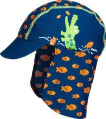 Blauwe Playshoes UV zonnepet Kinderen Krokodil - Blauw - Maat 51cm