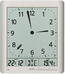 Grijze AMS Klok Radio-controlled Digitaal/Temperatuur 5898