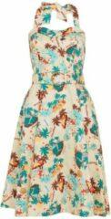 Voodoo Vixen Swing jurk -S- Ella halter Tropische print Multicolours