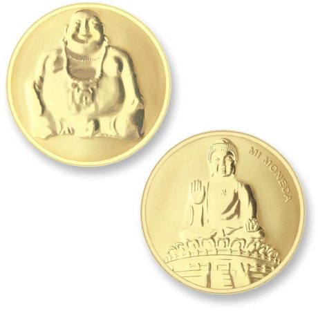 Afbeelding van Mi Moneda BUD-02 Buddha goudkleurig Medium