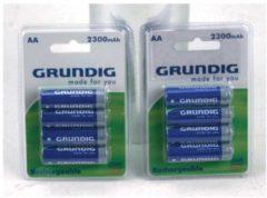 Blauwe Batterijen AA 4 Stuks Grundig Oplaadbaar 2300mAh