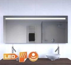 Grijze Schaere 160 cm brede badkamer spiegel met verlichting verwarming en sensor