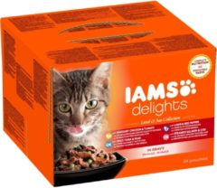 Iams Delights Land & Sea Collection - Kat - Natvoer - 12 x 85 gr