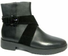 Zwarte FitFlopTM MONATM Buckle Ankle Boots