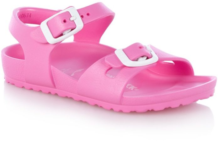 Afbeelding van Roze Birkenstock Kids' Rio EVA Double Strap Sandals - Neon Pink - EU 29/UK 11 - Pink