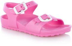 Roze Birkenstock Kids' Rio EVA Double Strap Sandals - Neon Pink - EU 29/UK 11 - Pink