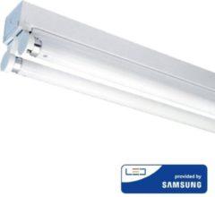 Grijze INTOLED IP20 LED armatuur 120 cm excl. 2x18W LED TL Buis