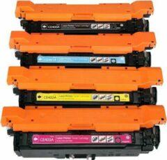 Cyane CE400X, CE401A, CE402A en CE403A Huismerk Toners van Mediaholland® Set van 4 stuks 507X - 507A