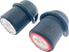 Orange85 Benson Fietslampjes - Led - Set van 2 - op Batterij - Rood - Wit - Voorlicht - Achterlicht - Voor en achter - Fietsverlichting - Kinderen - Volwassenen