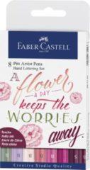 Faber Castell FC-267124 Tekenstift Faber-Castell Pitt Artist Pen Letteringset 8x