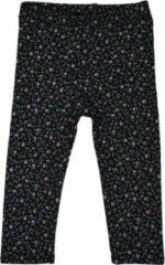 R Rebels | Katoenen baby legging | Zwarte bloemenprint | Maat 56