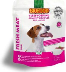 Biofood Vleesvoeding Compleet Eend - Hondenvoer - 7x90 g - Hondenvoer