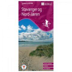 Nordeca - Wander-Outdoorkarte: Stavanger Og Nord Jæren 1/25 Auflage 2011