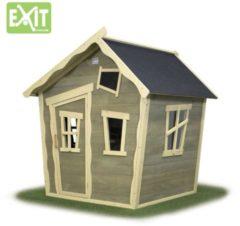 EXIT Crooky 100 houten speelhuis grijs-beige