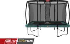 Groene BERG trampoline Ultim Champion 330 + Safety Net Deluxe