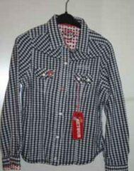 Rode Retour blouse Tiffany blauw met wit geruit maat 6 (maat 110/116)