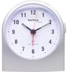 Techno Line WT 753 Wekker Zendergestuurd Zilver Alarmtijden: 1 Fluorescerende Wijzers