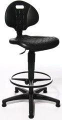Topstar bureaustoel 720puot tec 20 met verchroomde voetring en steldoppen zwart