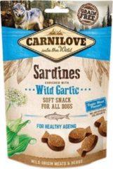 Carnilove soft snack sardines / wilde knoflook