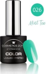 Groene Cosmetics Zone UV/LED Hybrid Gel Nagellak 7ml. Mint Tea 026