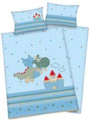 Baby Best Happy Dragon ledikant dekbedovertrek - 100% katoen - Ledikant (100x135 cm + 1 sloop) - Blauw