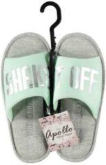 Apollo Mint/grijze huisslippers/instapsloffen/pantoffels Shake It Off voor dames - Mint slippers voor dames 41-42
