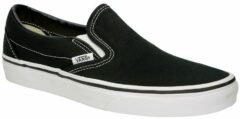 Zwarte Vans Classic Slip-On Trainers - Black - UK 5 - Black