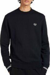 Fred Perry - Sweater met ronde hals in zwart