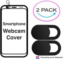 Zwarte IMora 2x Webcam Cover | Voor Apple iPhone SE| Camera Privacy Bescherming | 2 Pack Zwart