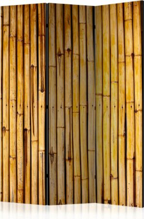 Afbeelding van Bruine Kamerscherm - Scheidingswand - Vouwscherm - Bamboo Garden [Room Dividers] 135x172 - Artgeist Vouwscherm