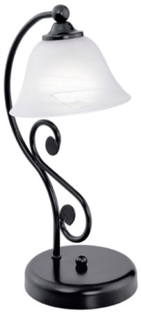 Afbeelding van Zwarte Eglo Murcia - Tafellamp - 1 Lichts - Zwart, Wit