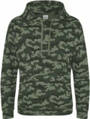 AWDis Hoods Camo hoodie, Kleur groen Camo, Maat XS