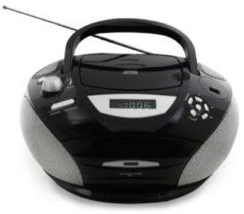 Soundmaster SCD5950 Radio, CD/MP3, Kassettespieler, 4 Lautsprecher, verschFarben Farbe: Schwarz