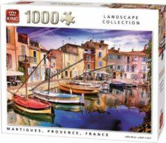 Puzzel King Frankrijk Provence Martigues Haven Huizen Legpuzzel 1000 stukjes 68 cm x 49 cm als hij af is...