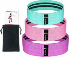 Paarse RTS Products® - weerstandsband set - Resistance band set - 3 delig - EXTRA STEVIG - booty building - fitness - crossfit - HOTSALE