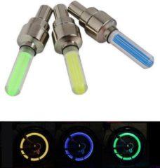 Tq4u LED-fietsventieldopjes, trendy en veilig op weg ! 9 stuks in geel, groen en blauw