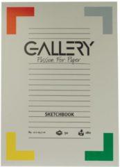 Gallery schetsblok formaat 21 x 297 cm (A4) 180 g/m�� blok van 50 vel