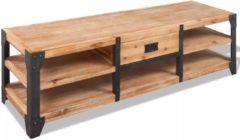Bruine VidaXL Tv-meubel 140x40x45 cm massief acaciahout