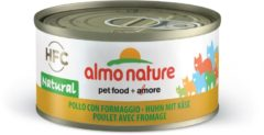 Almo Nature Hfc Cat Natural Blik 70 g - Kattenvoer - Kip&Kaas Classic - Kattenvoer