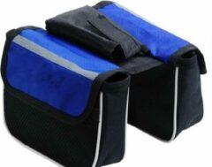Merkloos / Sans marque Handig klein fietstasje blauw - kleine fietstas voor stuur of stang - compact, klein en handig - ideaal voor snelle toegang tot o.a. telefoon, portemonnee, zonnebrand - verkrijgbaar in twee kleuren