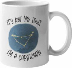Witte MagicDAT Mok Capricorn Is niet mijn schuld cadeau voor steenbok, horoscoop, zodiac, sterrenbeeld