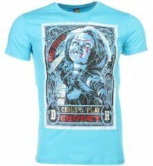 Blauwe T-shirts Mascherano T-shirt - Chucky Poster Print