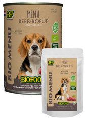 Biofood organic hond rund menu pouch hondenvoer 150 gr