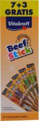 Vitakraft Beefsticks Voordeelverpakking - Hondensnacks - 10x12 g 7+3 stuks - Hondenvoer