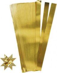 Goudkleurige 100 papieren stroken goud 73 cm