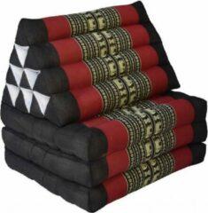 Thai Moonz Thais Kussen Vloerkussen uitklapbaar 165 cm Zwart Rood