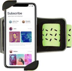 Casies Hardloophouder Zwart / Groen - Universele Smartphone Hardloop Armband - Sportarmband